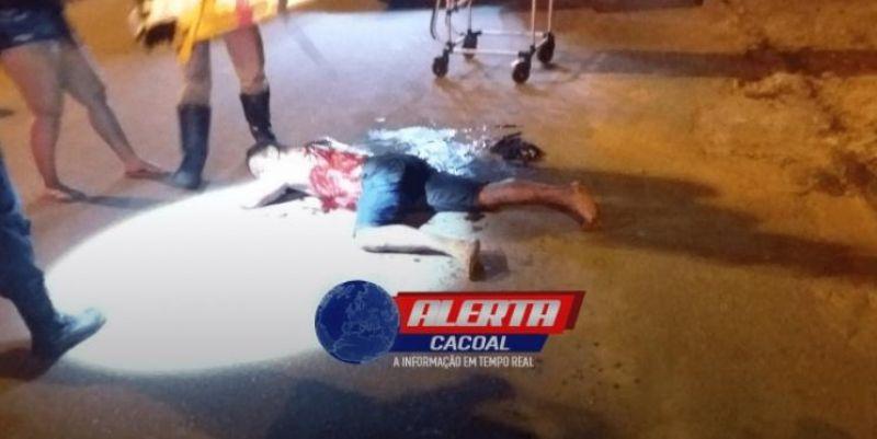 Homem foi esfaqueado por atual da sua ex-mulher, em Cacoal