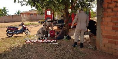 Motociclista foge do local após provocar acidente de trânsito que deixou duas pessoas feridas em Rolim de Moura