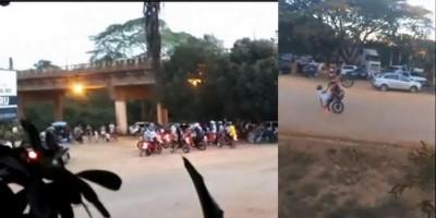 Populares aproveitam o fechamento dos portões do 8º Batalhão da PM e promovem arruaça em Jaru - Vídeo