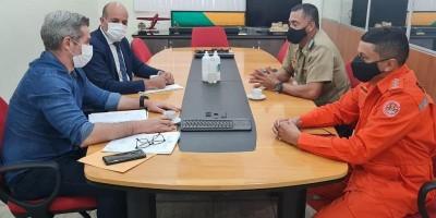 Prefeito e deputado Ismael Crispin debatem com comandante do Corpo de Bombeiros implantação de uma unidade em Alta Floresta do Oeste