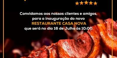 Inaugura amanhã restaurante e churrascaria Casa Nova, em Rolim de Moura