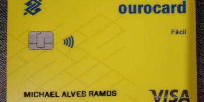 Cartão encontrado em nome de Michael Alves Ramos