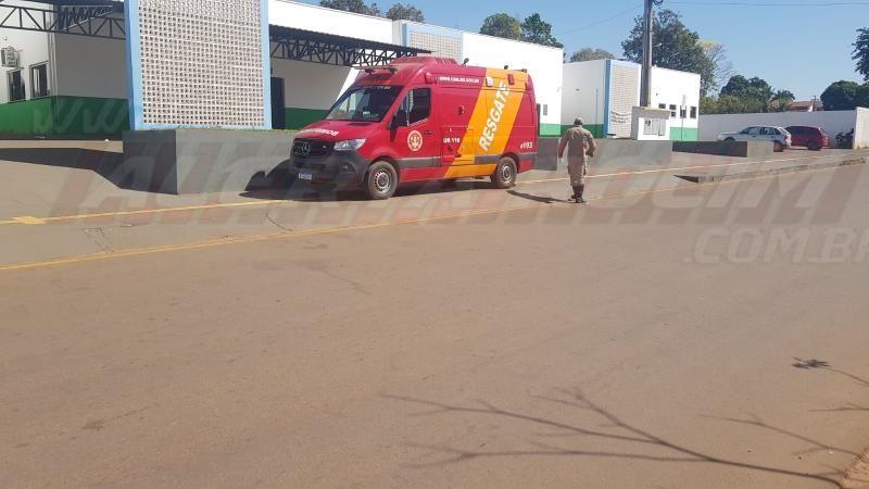 Acidente de trânsito na esquina da UPA resulta em dois feridos em Rolim de Moura