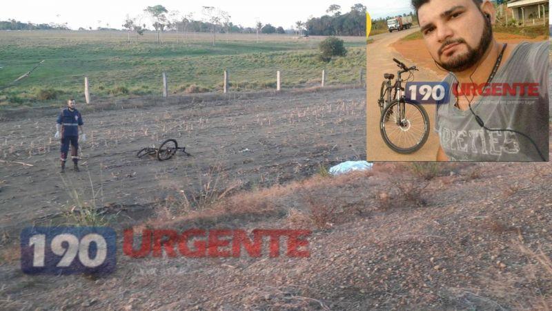 Ciclista morre após ser atingido por táxi na BR-421 em Ariqumes