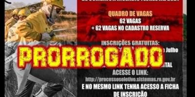 Há vagas para Rolim de Moura - Inscrições para o processo seletivo de bombeiros civis voluntários em Rondônia são prorrogadas