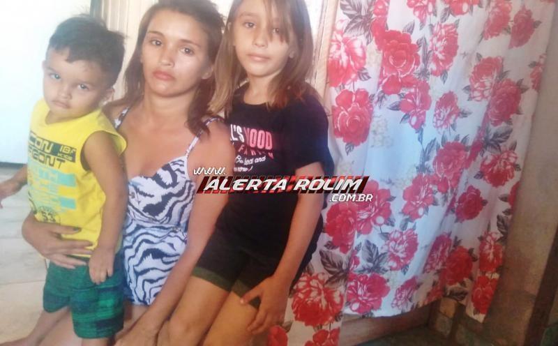 Mulher, mãe de duas crianças que perdeu a casa e toda a mobília durante incêndio em Rolim de Moura pede a ajuda da população