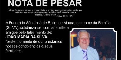 Nota de Pesar -João Maria da Silva