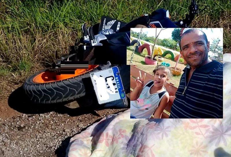 Pai e filha morrem atropelados por carreta na BR-364