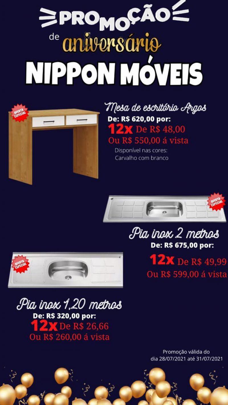 Promoção de aniversário Nippon Móveis; produtos em ofertas e formas incríveis de parcelamento
