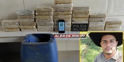 URGENTE - 40 kg de drogas são apreendidas pela Polícia Militar em Alta Floresta do Oeste; um suspeito foi preso - Vídeo