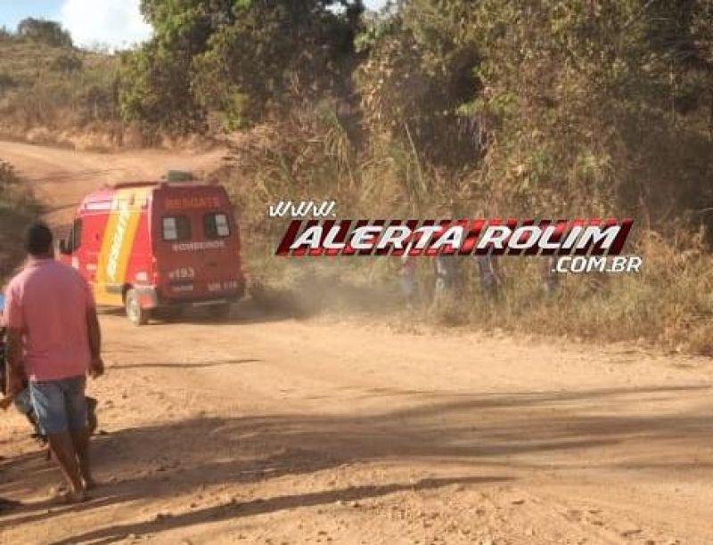 URGENTE - Motorista morre após cair com carro em córrego da linha 172 em Rolim de Moura
