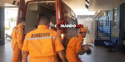 Bombeiros salvam criança de 02 anos de idade que se afogou em balde com água, em Jí-Paraná