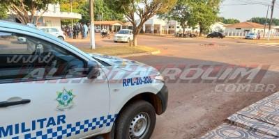 Acidente de trânsito foi registrado nesta manhã em Rolim de Moura