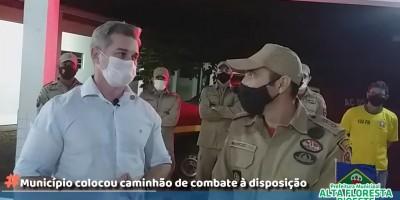 Bombeiros Militares estão atuando em Alta Floresta do Oeste durante a Operação Verde Rondônia - Vídeo