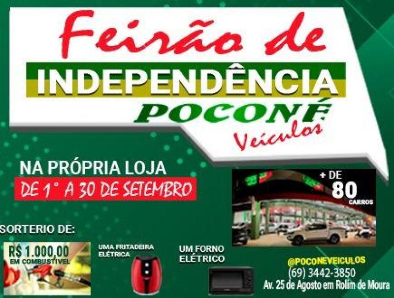 Em setembro celebre sua independência com a Poconé Veículos