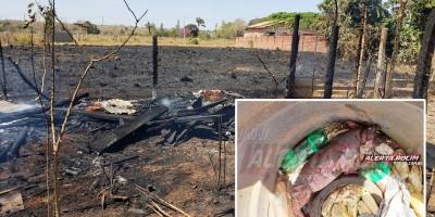 Leitoa é queimada viva durante incêndio em vegetação no setor chacareiro em Rolim de moura