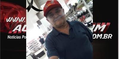 Nota de pesar pelo falecimento de Francisco Viturino de Souza, aos 72 anos, dono da antiga Sorveteria Brasil em Rolim de Moura