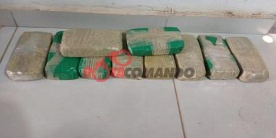 Polícia apreende 10 kg de pasta base de cocaína transportados em veículo na BR 429 em São Francisco do Guaporé/RO.