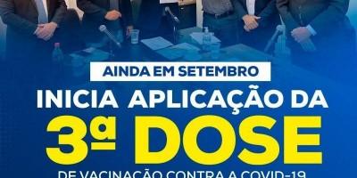 Setembro inicia-se a aplicação da terceira dose contra a covid 19 em Rondônia