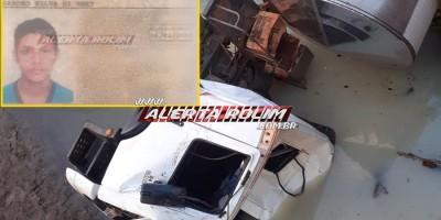 ATUALIZADA – Caminhão leiteiro colide em cabeceira de ponte entre Santa Luzia e São Felipe e resulta em três vítimas; uma delas foi a óbito no local