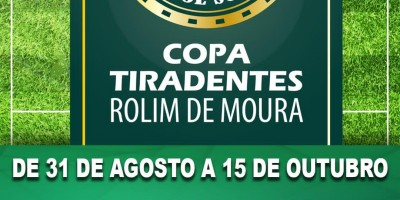 Vem aí, a COPA TIRADENTES da Polícia Militar em Rolim de Moura com mais de 7 mil reais em premiações