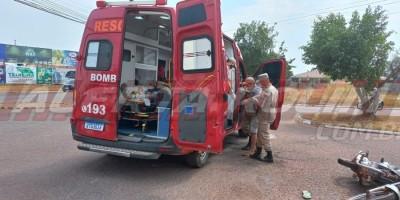 Pai e filho ficam feridos no primeiro acidente de trânsito do mês em Rolim de Moura
