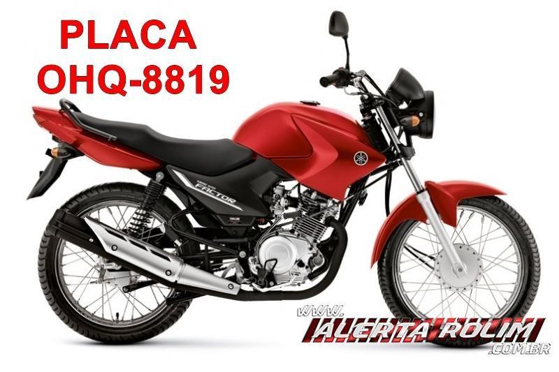 Moto foi furtada em frente de residência no bairro Olímpico em Rolim de Moura