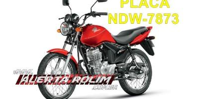 Homem tem moto roubada na saída da cidade por dupla armada em Rolim de Moura