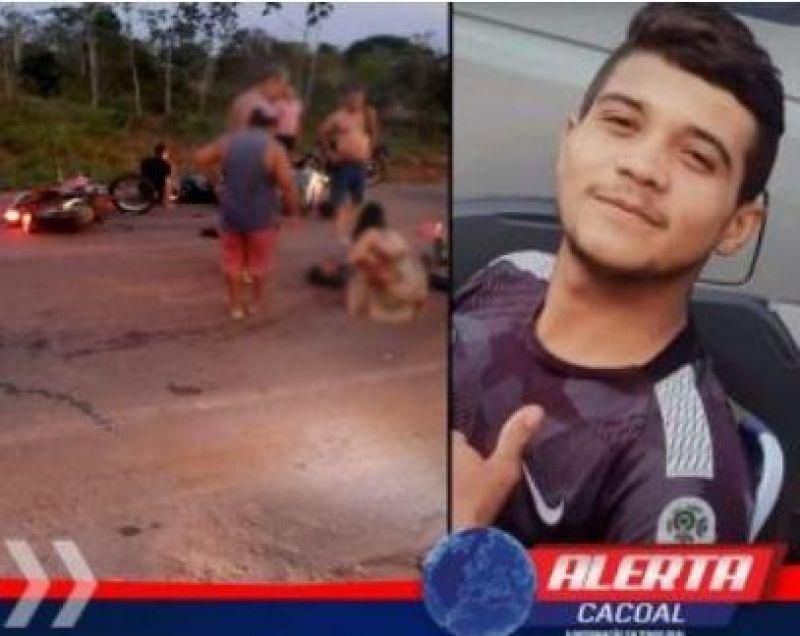 Jovem morre após grave acidente de trânsito na linha 208 em Cacoal