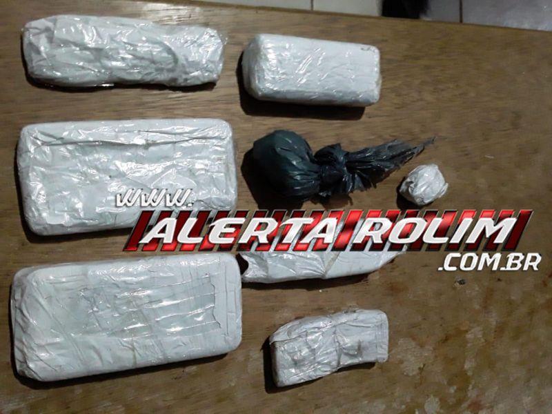 Policiais Penais interceptaram celulares e droga que foi arremessada no Semiaberto de Rolim de Moura