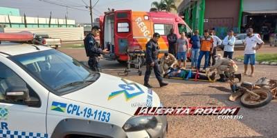 Semana começa com registro de acidente de trânsito em Rolim de Moura