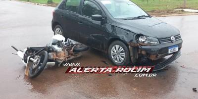 Mais um acidente de trânsito é registrado nesta manhã de sexta-feira em Rolim de Moura