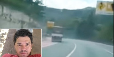 Caminhoneiro de Rondônia morre esmagado por carga em acidente no Paraná; veja o vídeo do momento do acidente