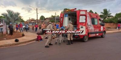 Colisão entre duas motos no bairro Cidade Alta resulta em 04 vítimas; uma delas em estado grave - Veja o vídeo do acidente