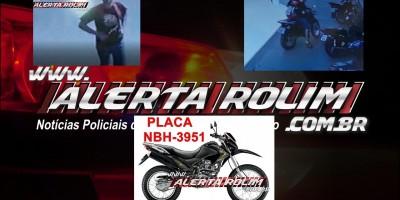 Bros foi furtada no Centro de Rolim de Moura nesta manhã de sábado; Veja o vídeo
