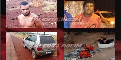 Carro furtado em Rolim de Moura e produtos furtados em Ministro Andreazza foram recuperados pela PM do 10º Batalhão; dois suspeitos foram presos em flagrante