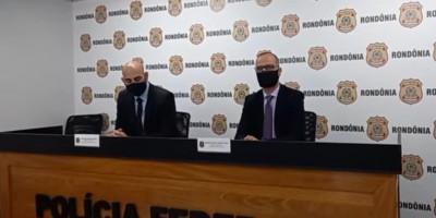 Em coletiva, Delegados dão informações sobre a operação Carga Prensada da Polícia Federal - Vídeo