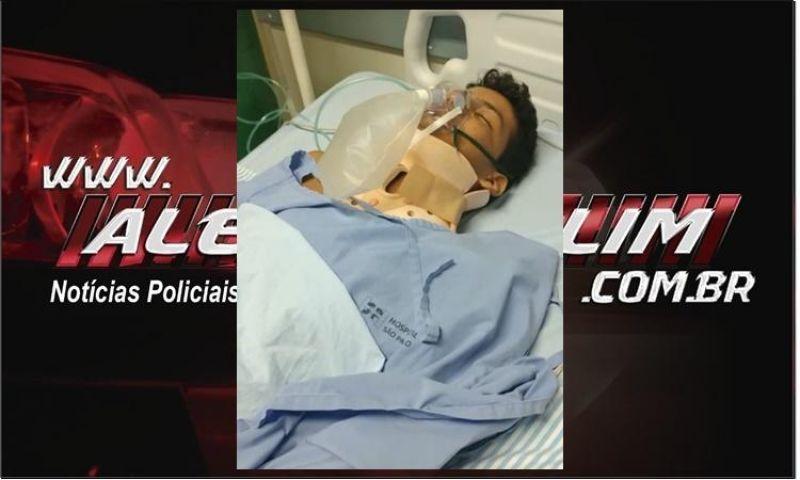 Familiares pedem ajuda para custear o tratamento de Willian Daniel, que sofreu um grave acidente em Rolim de Moura
