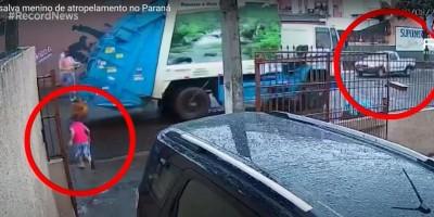 Gari salva menino de atropelamento no Paraná; vejo o vídeo