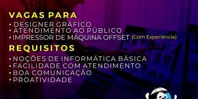 Gráfica Absoluta está com vagas de emprego em Rolim de Moura; Confira