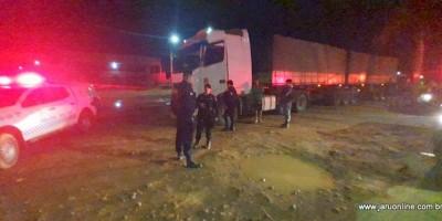 Jaru: Motorista de Bi trem avança bloqueio sobre a Ponte do Rio Jaru, e por pouco não atropela manifestantes