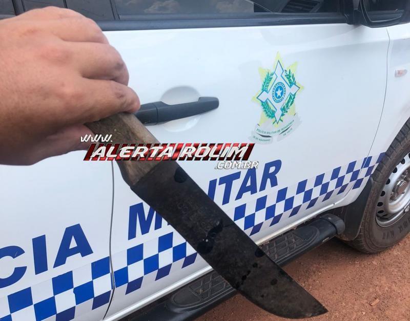 Ladrão é preso em flagrante pela PM, após furto em residência e ameaçar a vítima