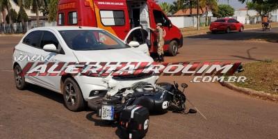 Mais um acidente de trânsito com vítima foi registrado neste dia 01 em Rolim de Moura