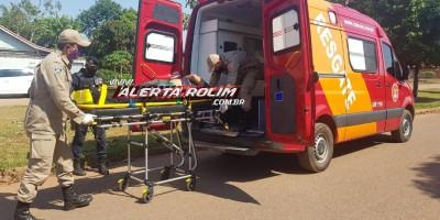 Manhã de domingo registra acidente com vítima em Rolim de Moura