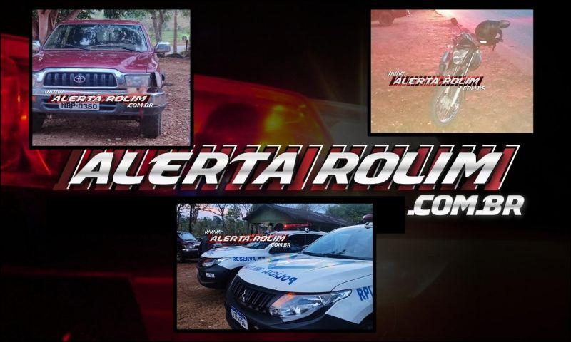 Mulher tem pé decepado após colisão entre caminhonete e moto na RO-010 em Novo Horizonte