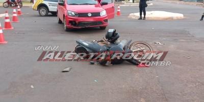 Segundo acidente de trânsito com pessoa ferida foi registrado nesta quinta-feira em Rolim de Moura