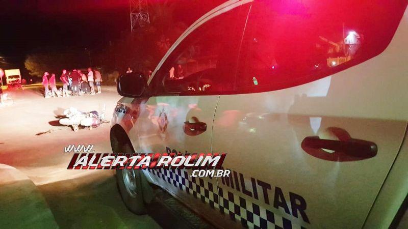 Mais um grave acidente de trânsito foi registrado na Rua T, no bairro Cidade Alta em Rolim de Moura
