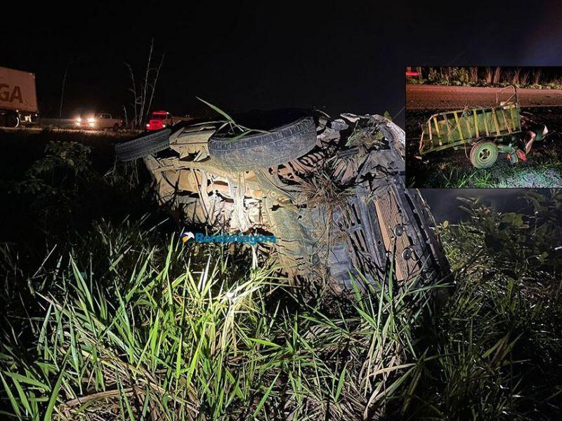 Acidente na BR-364 envolveu viatura da Marinha e deixou três vítimas