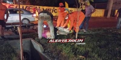 Em menos de 20 dias, 4º acidente de trânsito foi registrado na Avenida 25 de Agosto, cruzamento com a Rua Jamari em Rolim de Moura