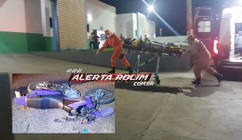 Motociclista sofre múltiplas fraturas em grave acidente na RO-010, entre Rolim de Moura e Nova Estrela